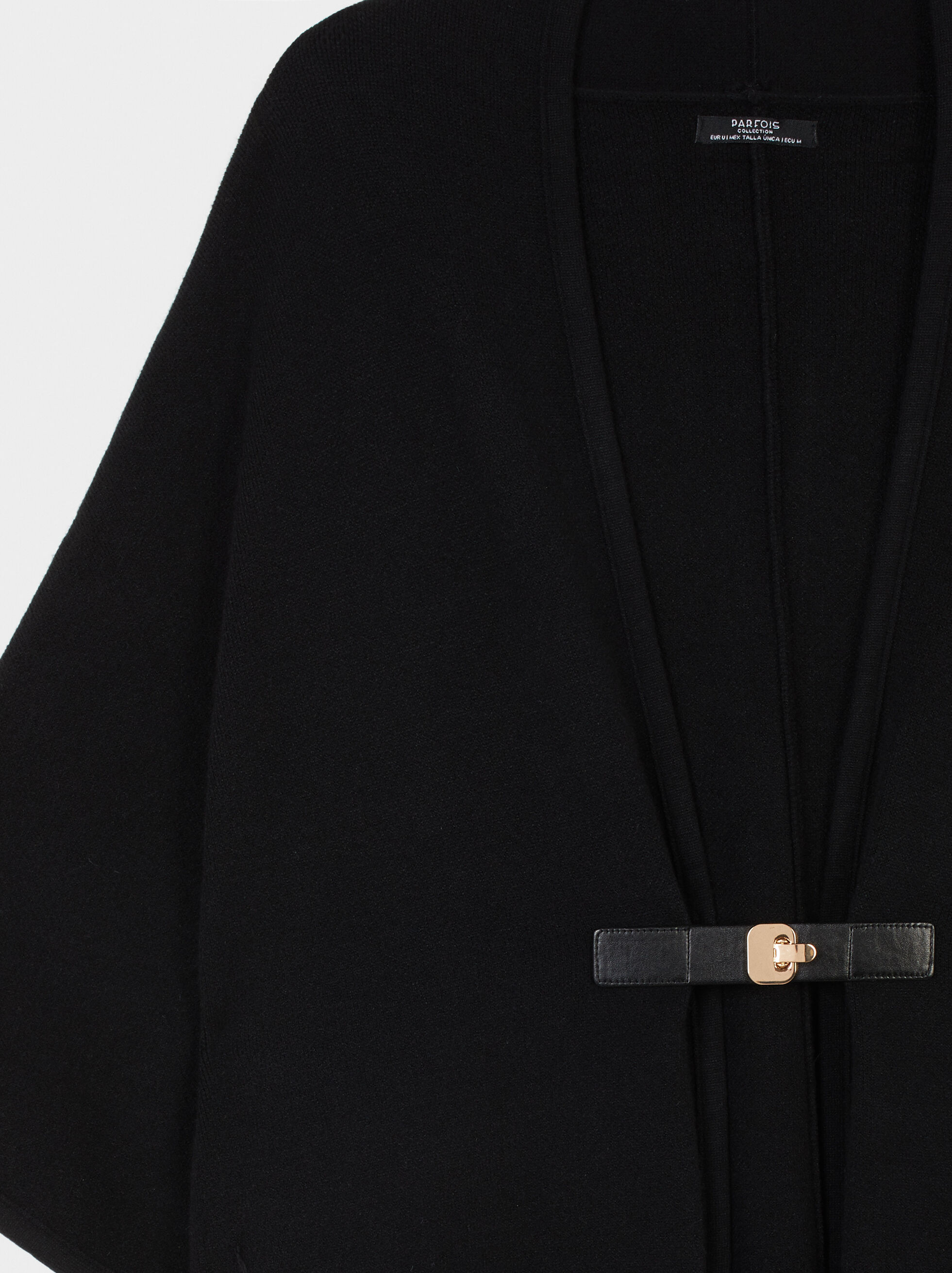 Poncho With Pockets, Black, hi-res
