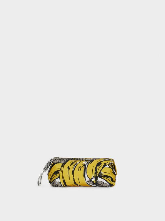 Nylon Pencil Case, Yellow, hi-res