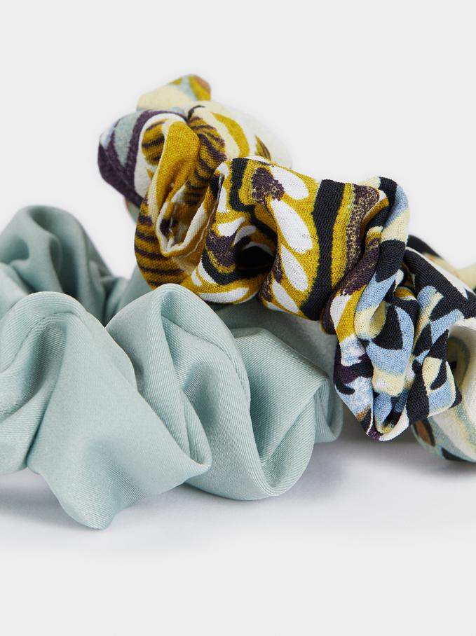 Elastico Per Capelli Stampa Multicolore, Multicolore, hi-res