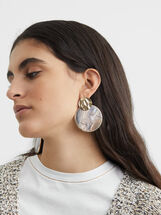 Blog Long Earrings, Golden, hi-res