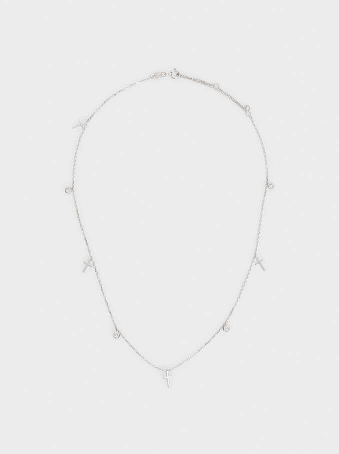 925 Sterling Silver Necklace, Silver, hi-res
