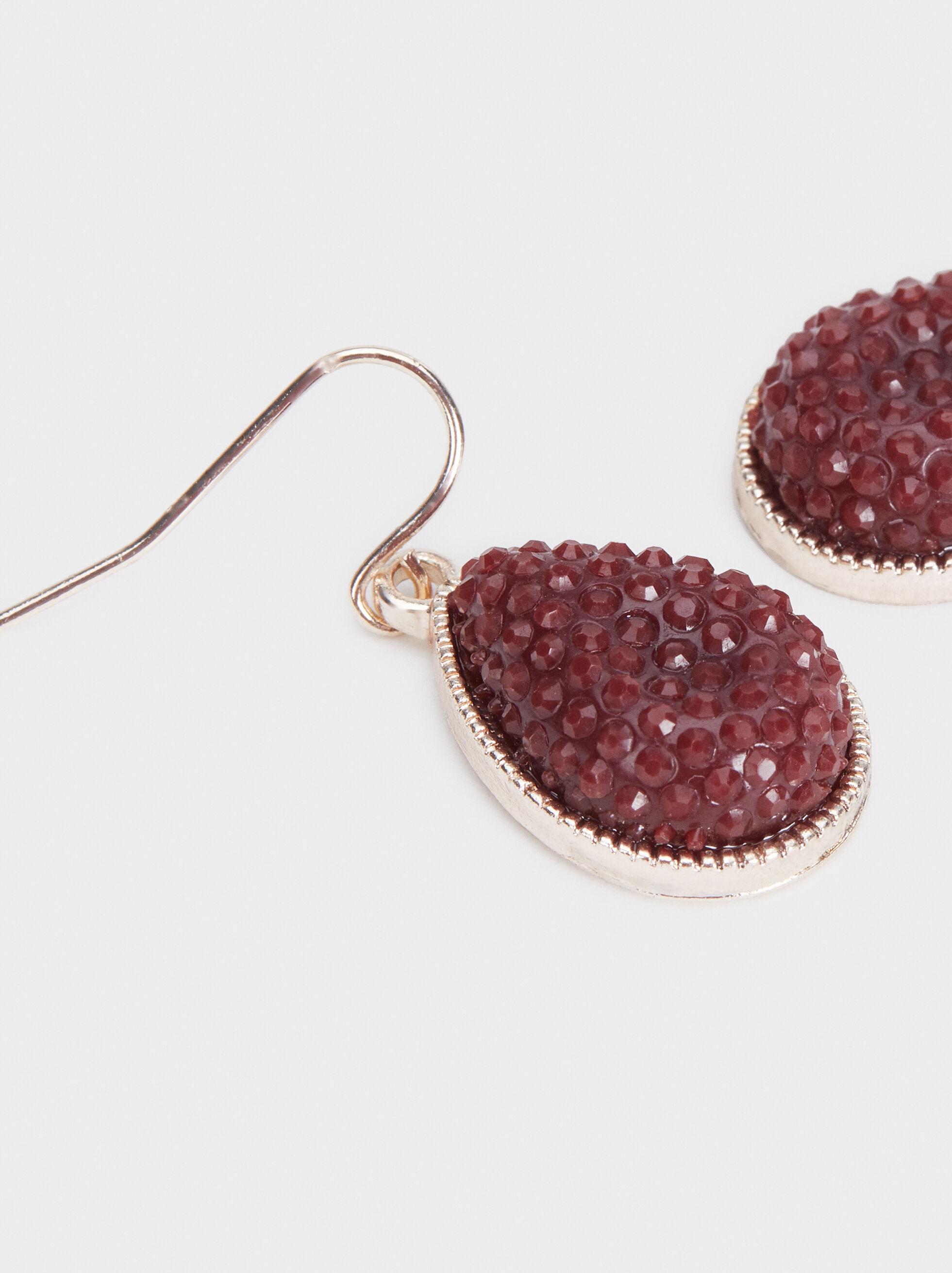 Rose Berry Short Earrings, Bordeaux, hi-res