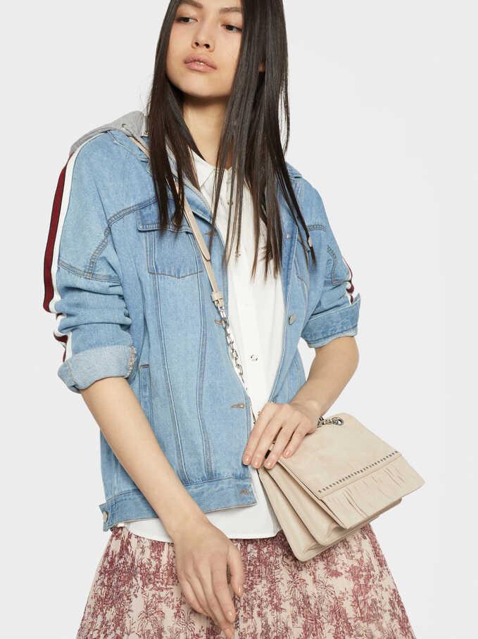 Suede Lydia Crossbody Bag With Studs, Ecru, hi-res