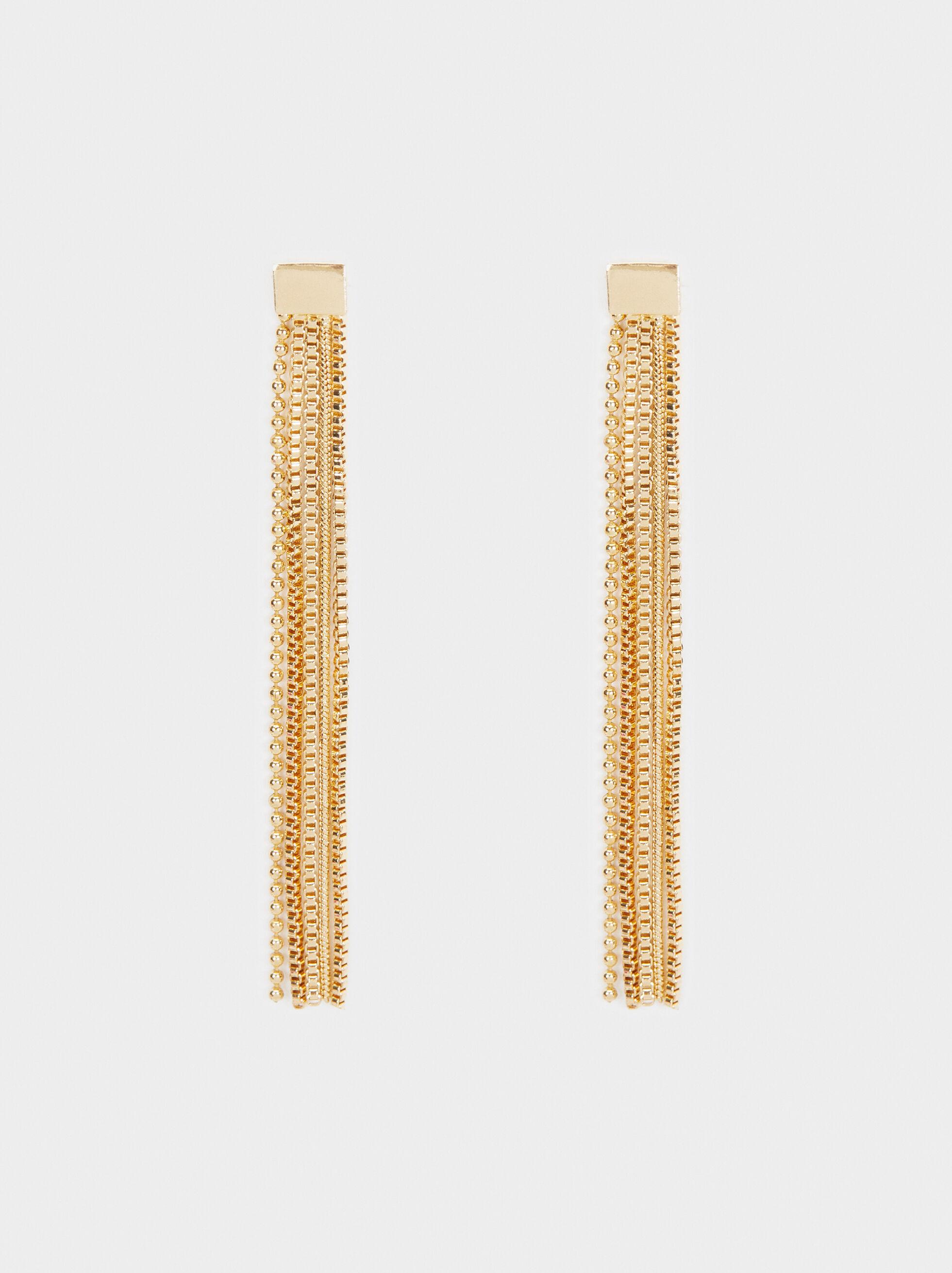 Long Fringe Earrings, , hi-res