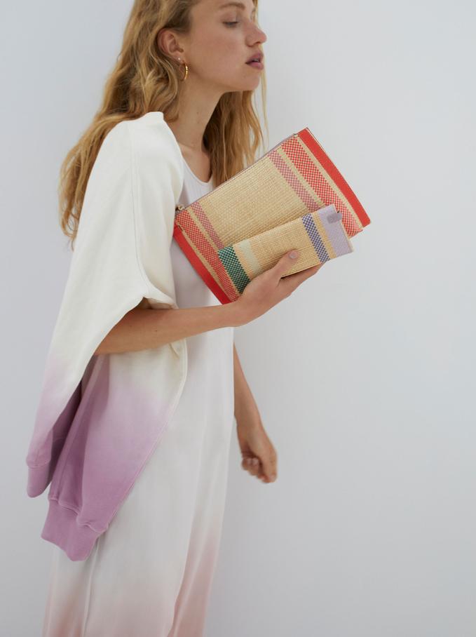 Straw Multipurpose Bag, Coral, hi-res