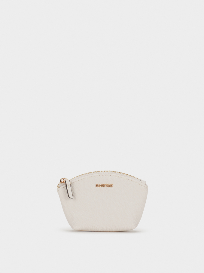 Small Plain Purse, Ecru, hi-res