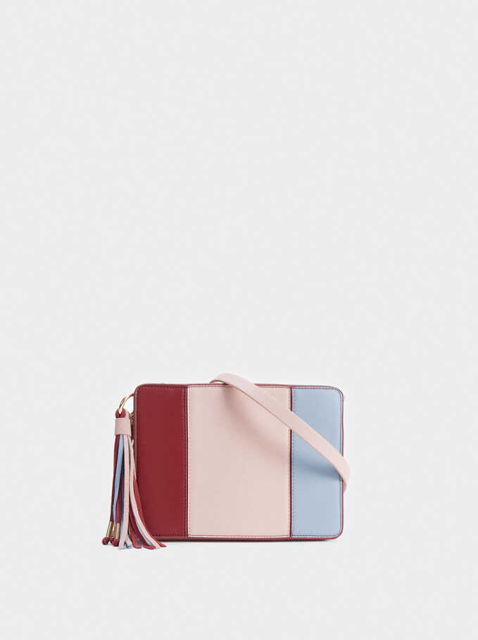 Crossbody Bag With Tassel, Pink, hi-res