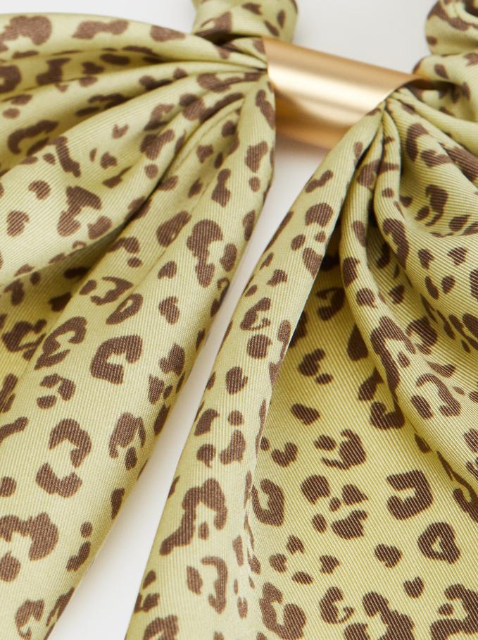 Animal Print Scrunchie, Multicolor, hi-res