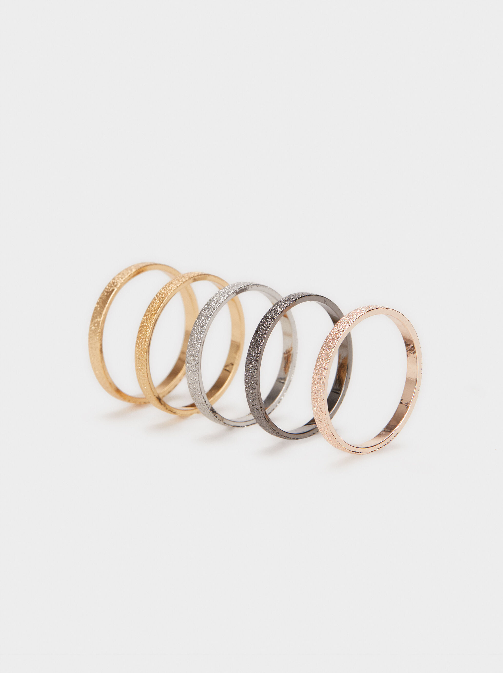 Multi-Coloured Ring Set, , hi-res