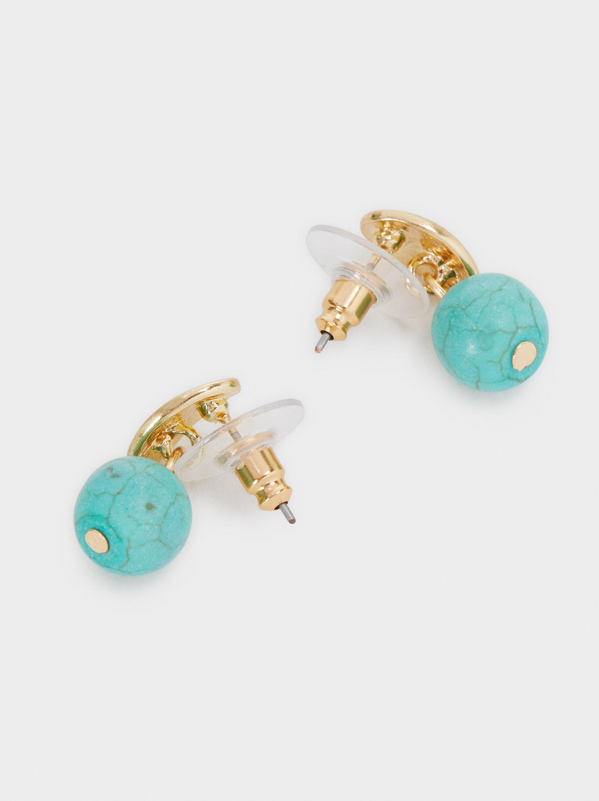 Recife Short Dangle Earrings, Beige, hi-res