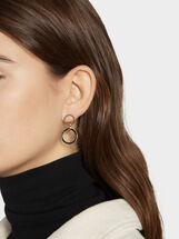 Two-Tone Steel Short Earrings, , hi-res