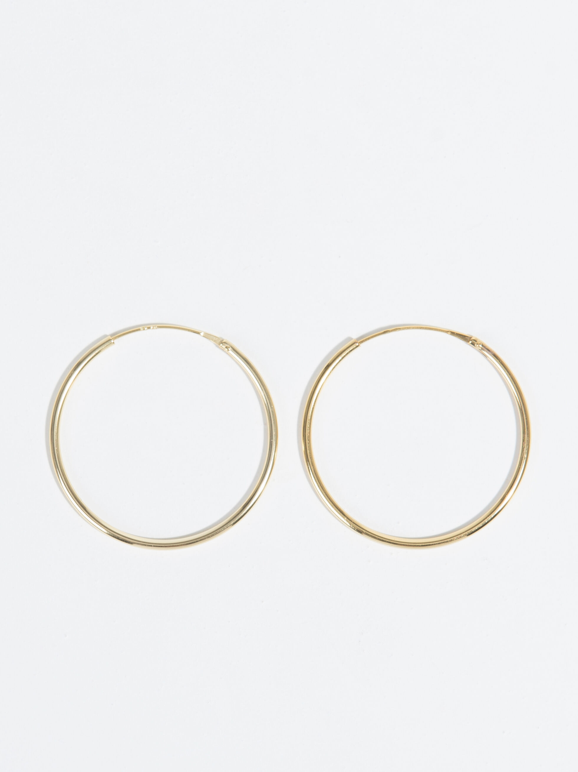 925 Sterling Silver & Gold Plated Short Hoop-Earri, , hi-res