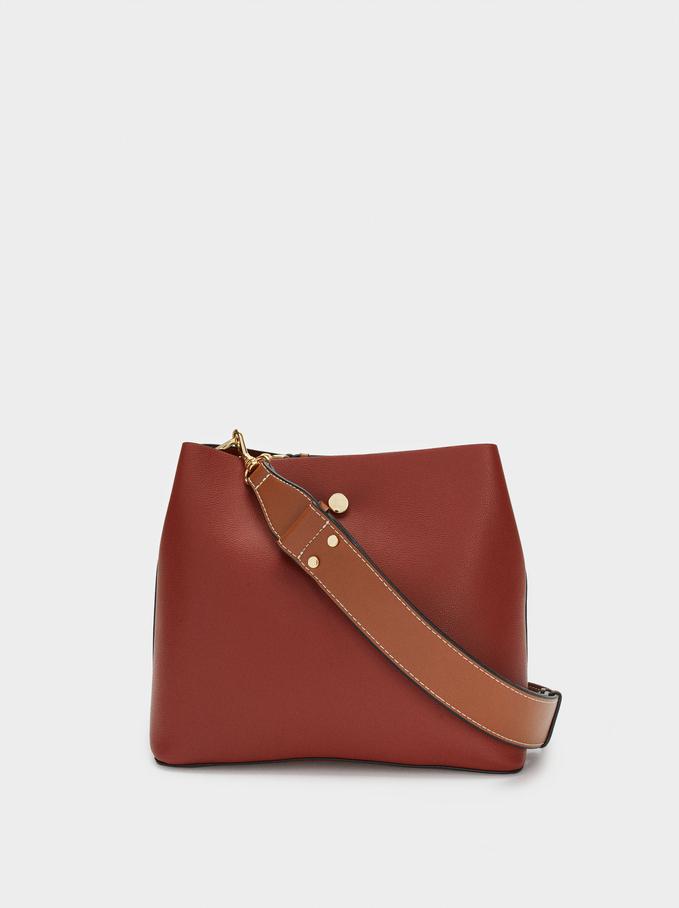 Shoulder Bag With Removable Shoulder Strap, Brick Red, hi-res