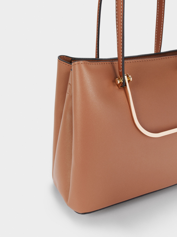 Shopper Bag With Multi-Way Handles, Camel, hi-res