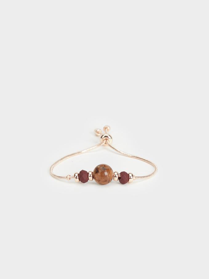 Rose Berry Adjustable Bracelet, Pink, hi-res