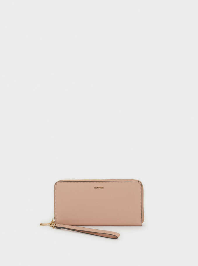 Long Zipped Purse, Orange, hi-res
