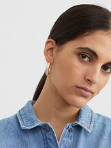 Creme Small Hoop Earrings, Pink, hi-res