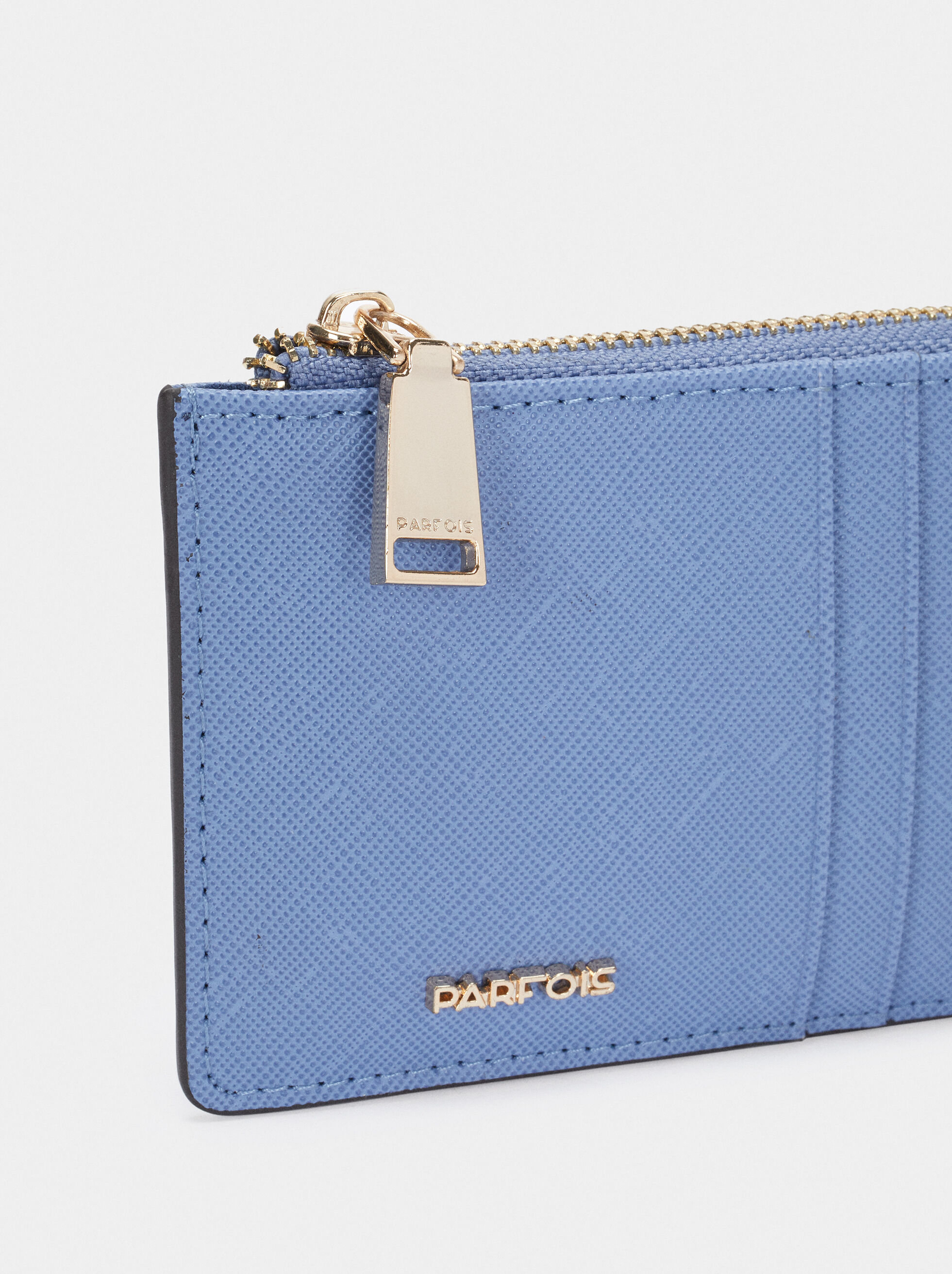 Porte-Cartes Avec Porte-Monnaie, Bleu, hi-res