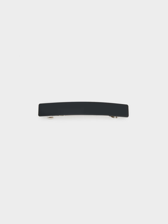 Basic Hairclip, Black, hi-res