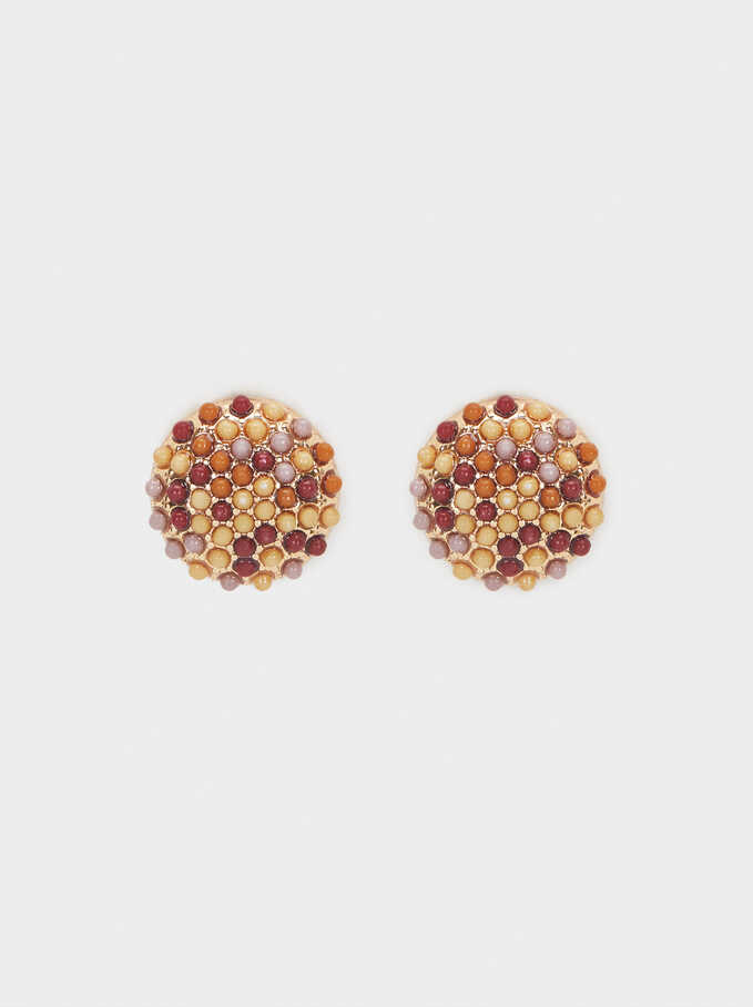 Beaded Studs, Multicolor, hi-res