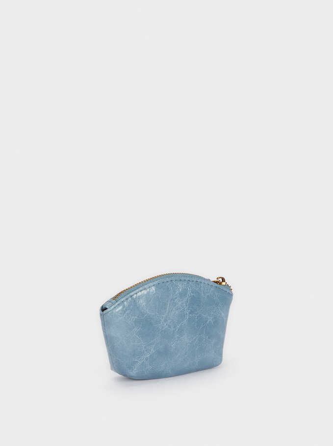 Zipped Purse, Blue, hi-res
