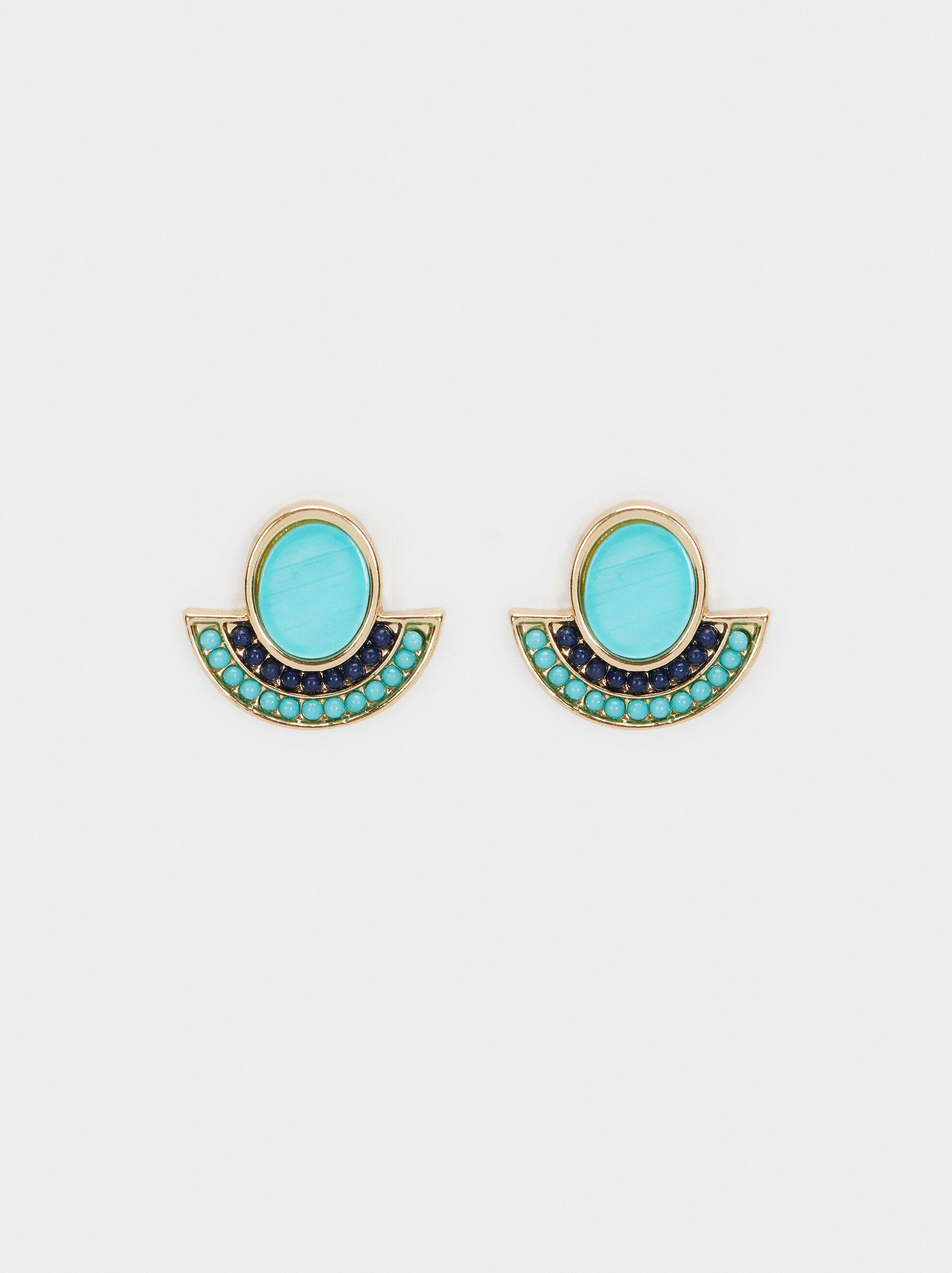 Recife Stud Earrings, Multicolor, hi-res