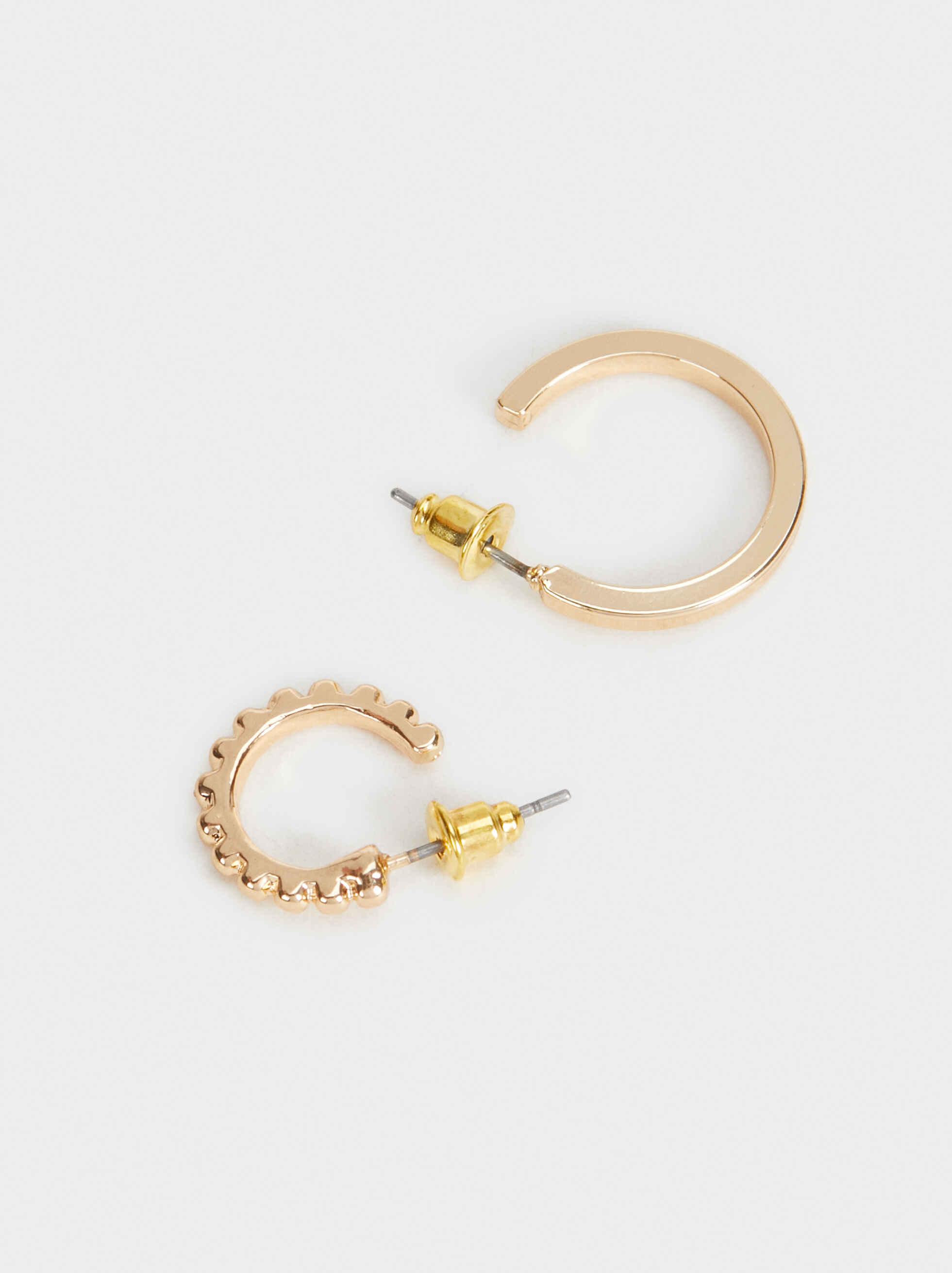 Hoop Fever Set Of Small Hoop Earrings, Golden, hi-res