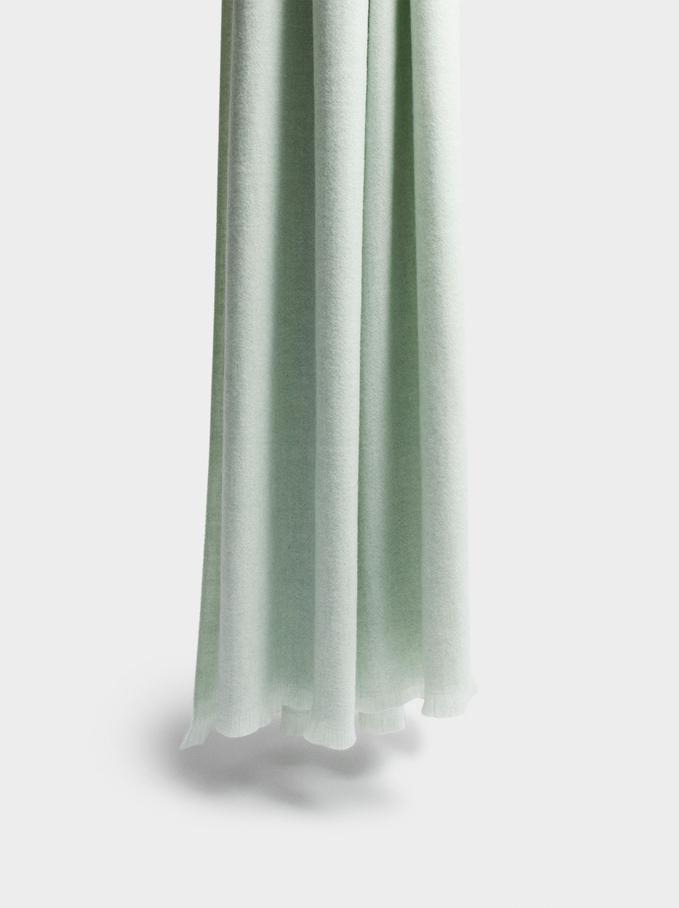Maxi Écharpe Unie, Vert, hi-res
