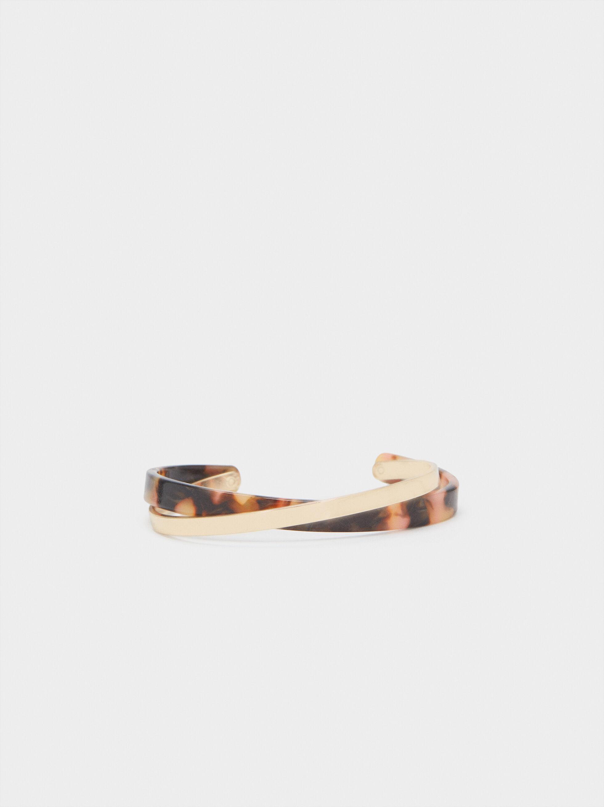 Multicoloured Double Cuff Bracelet, Multicolor, hi-res