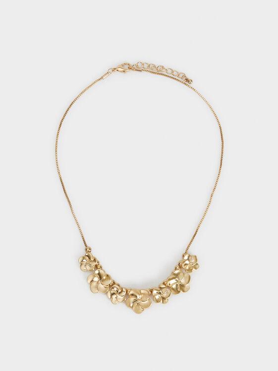 Short Flower Necklace, , hi-res