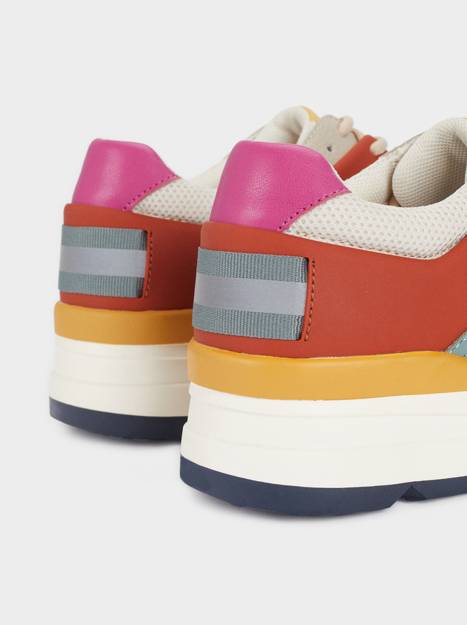 Multicoloured Trainers, Multicolor, hi-res