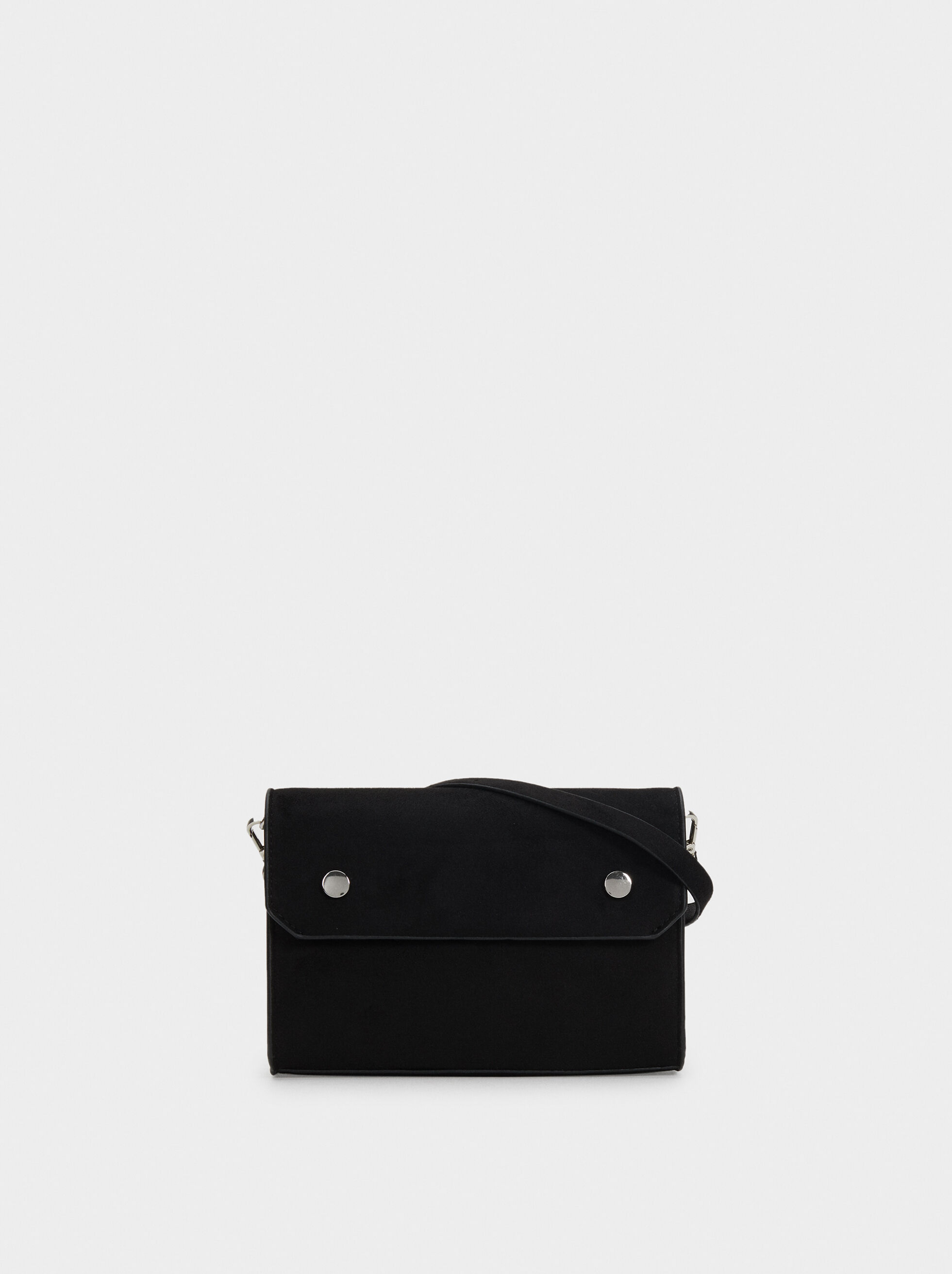 Suede Texture Shoulder Bag, , hi-res