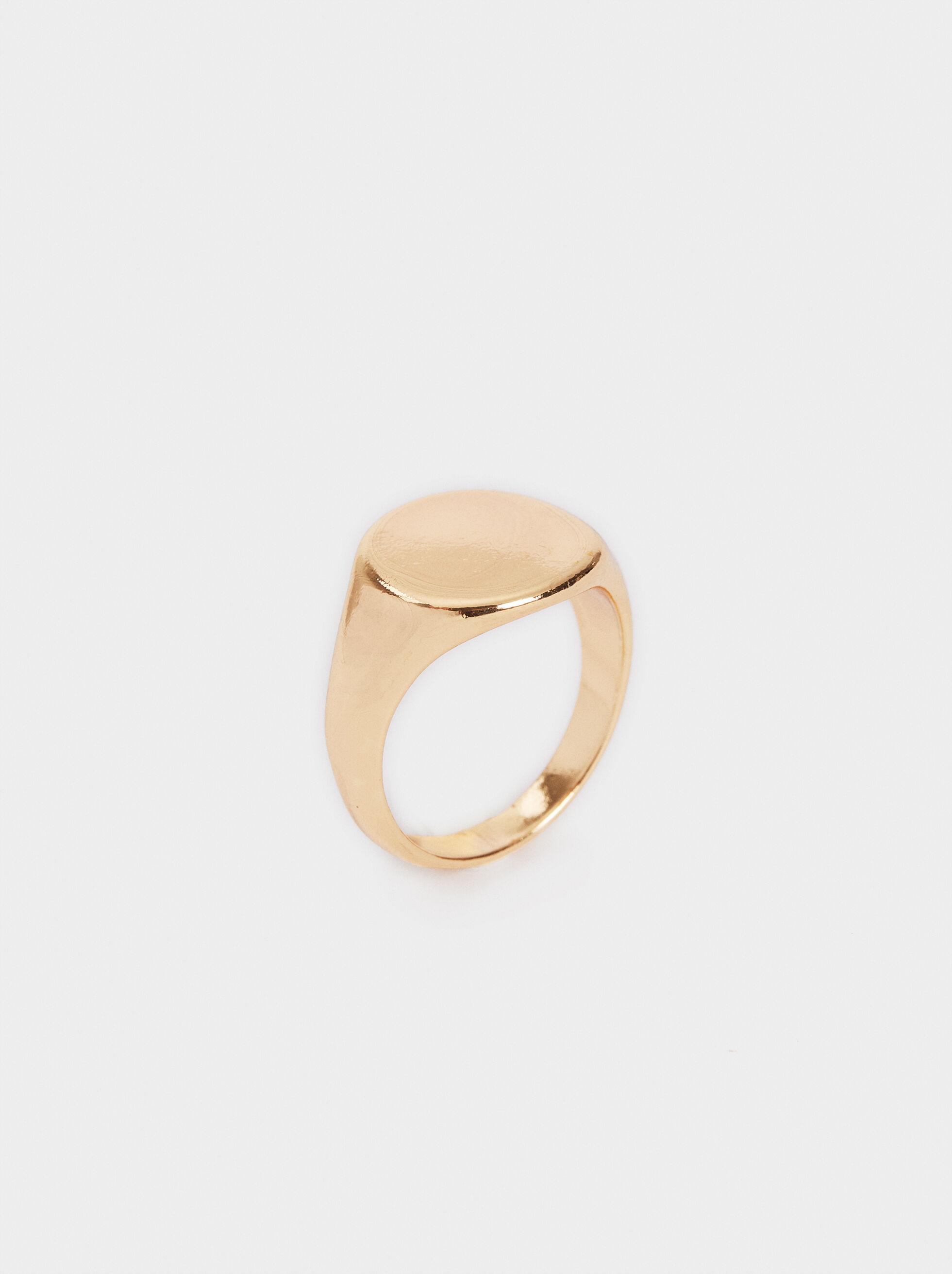 Golden Signet Ring, , hi-res