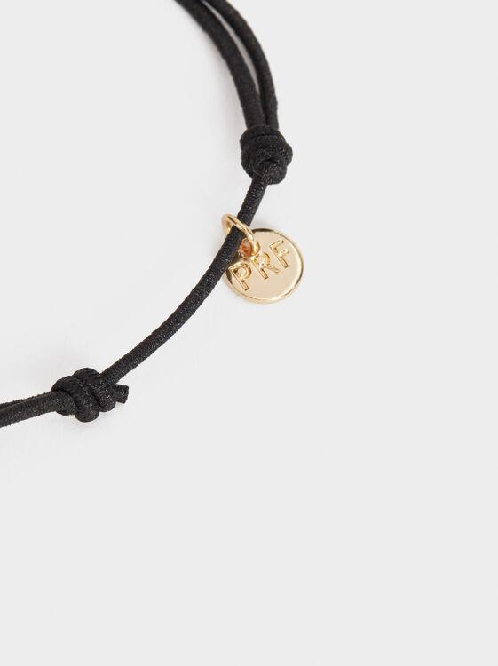 Black And Red Elastic Bracelet, Black, hi-res