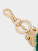 Turtle Key Ring, Green, hi-res