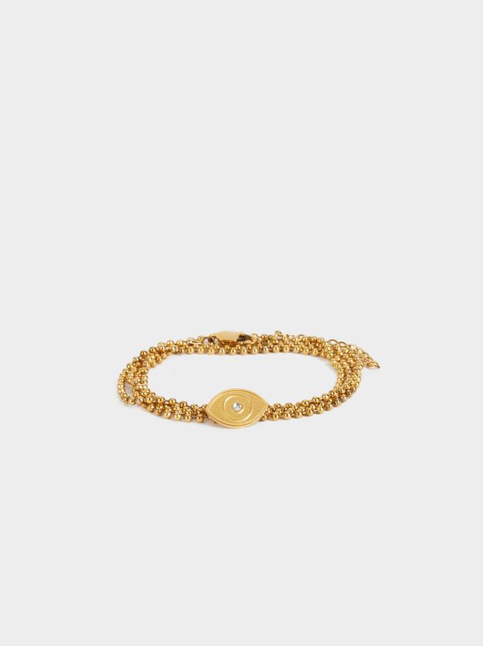 Stainless Steel Gold Bracelet, Golden, hi-res