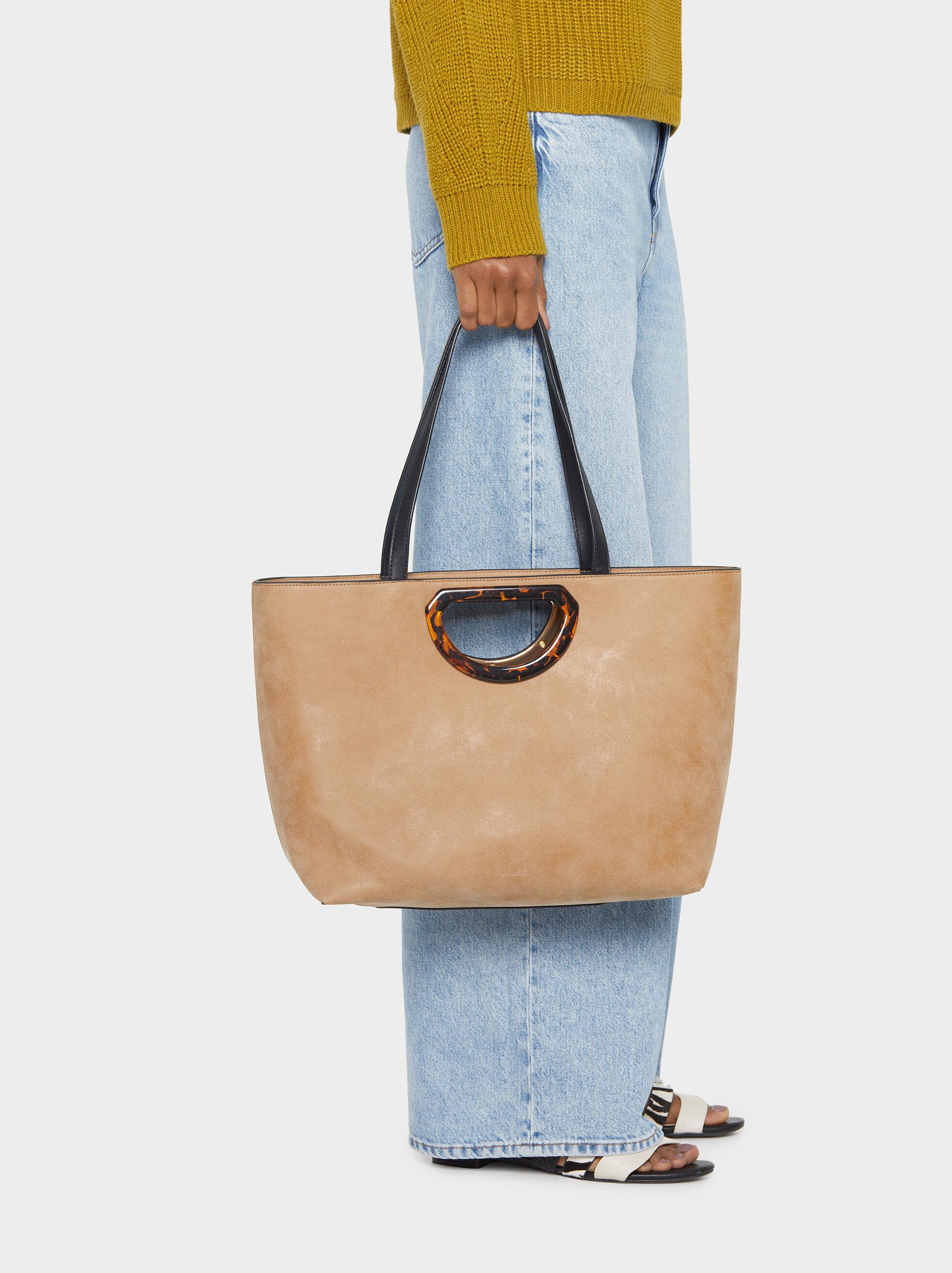 Tortoiseshell Detail Tote Bag, , hi-res