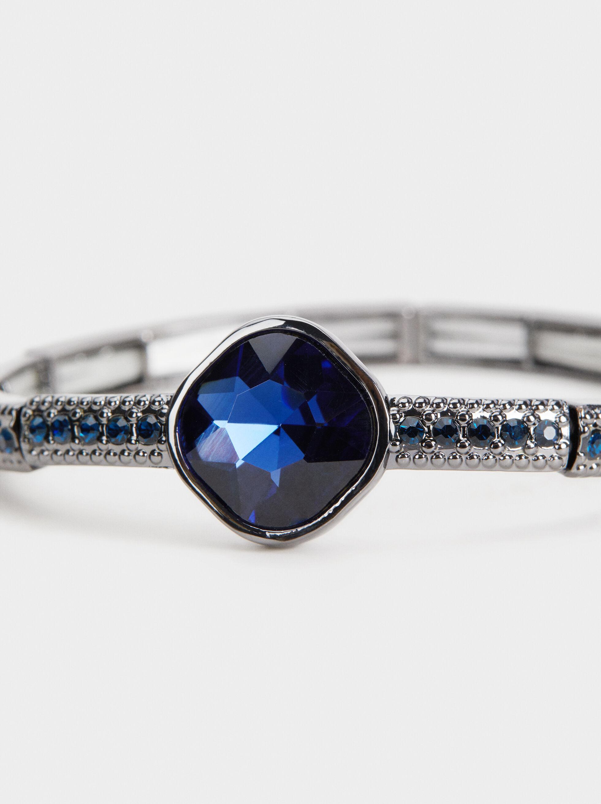 Savage Sparkle Elastic Bracelet, Blue, hi-res
