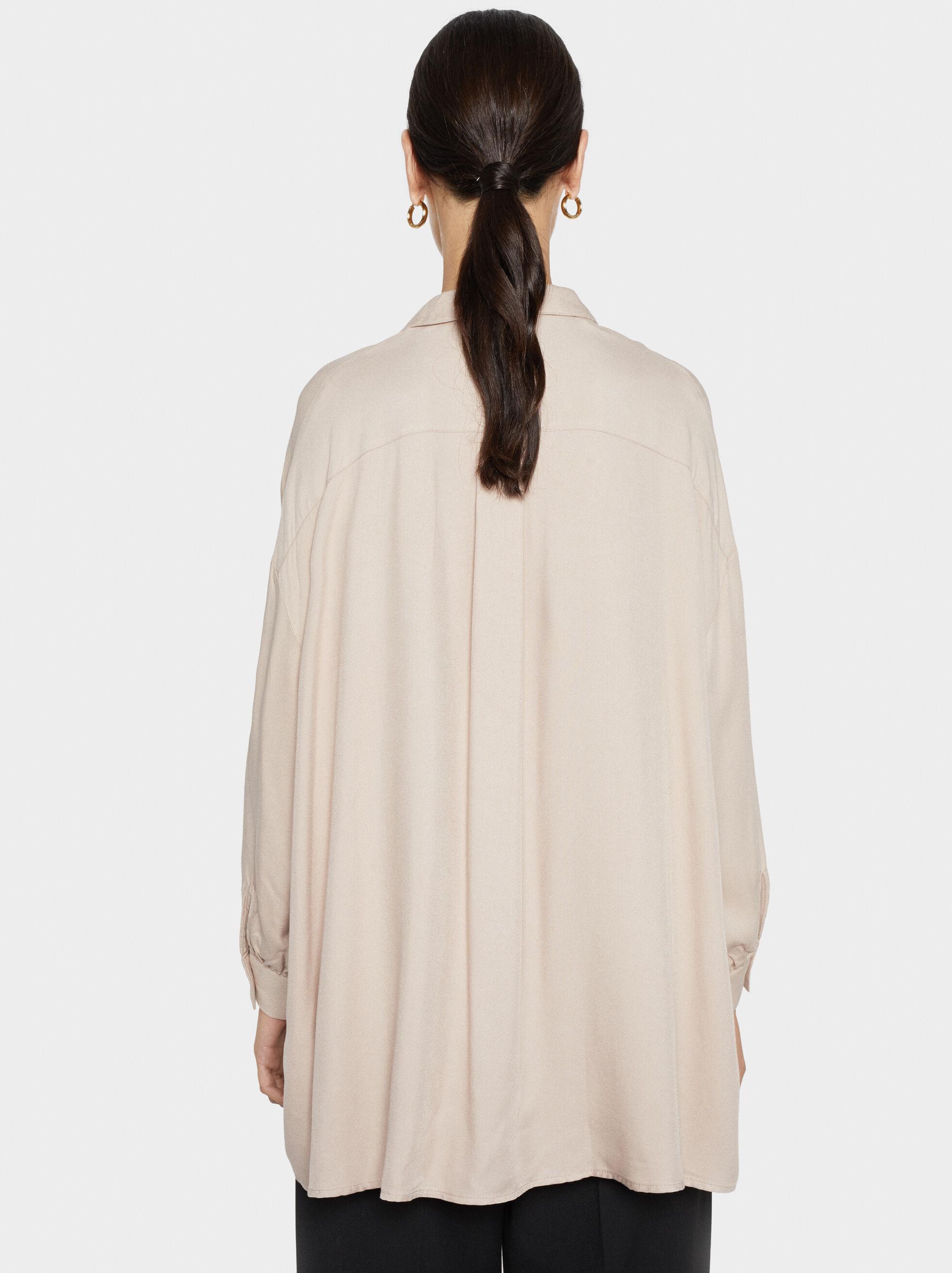 Plain Shirt, Beige, hi-res