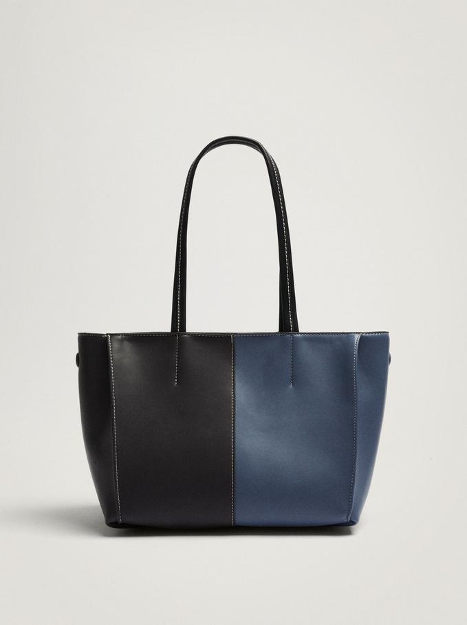 Patchwork Shoulder Bag, Black, hi-res