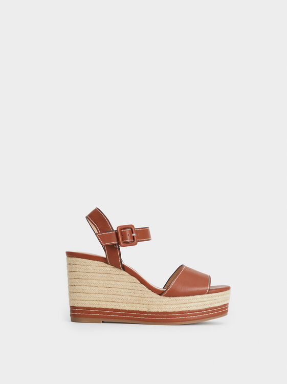 Jute Wedge Sandals, , hi-res