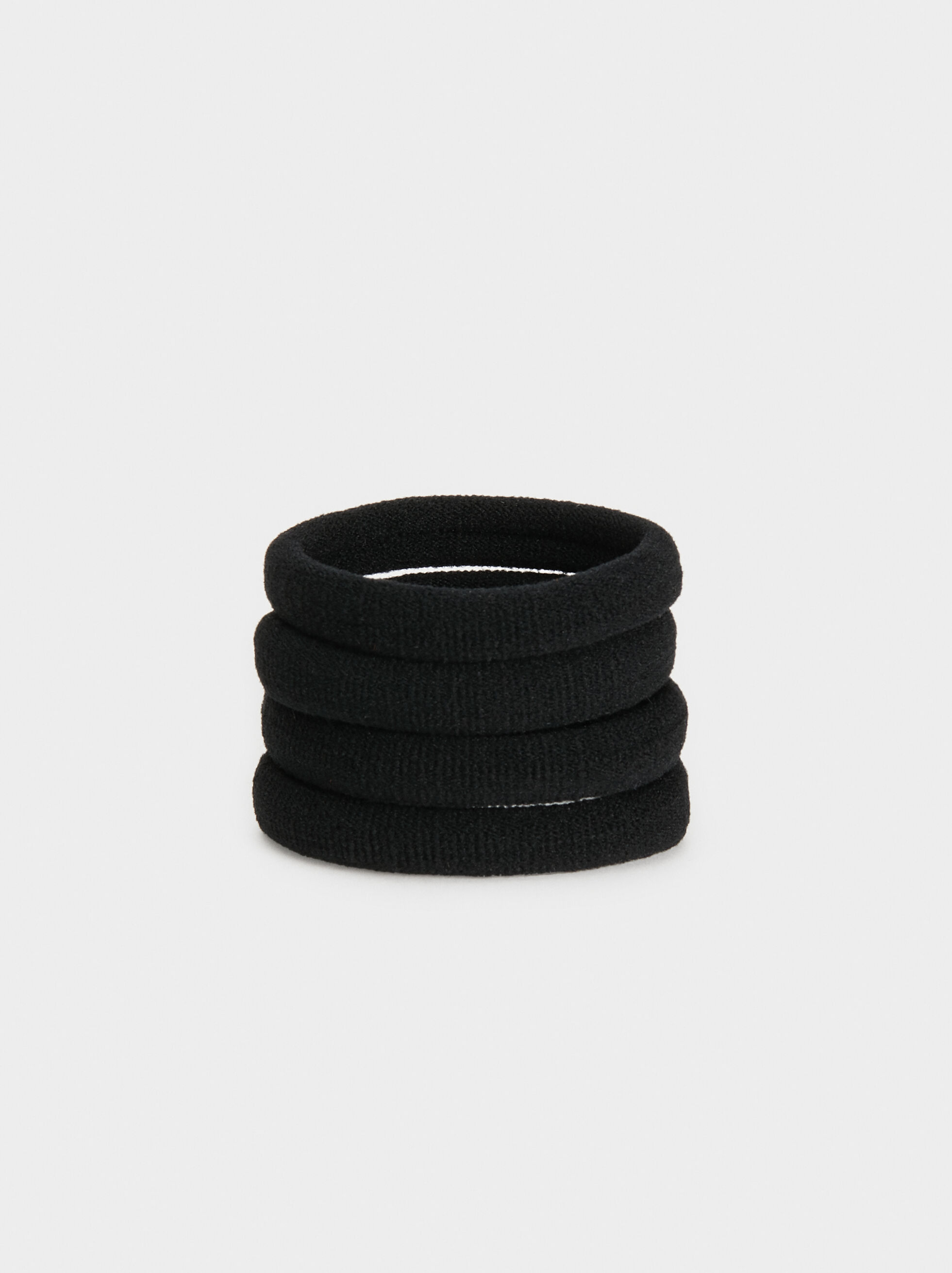 Set Of Hair Elastics, Black, hi-res
