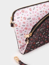 We Are Love Reversible Crossbody Bag, Black, hi-res