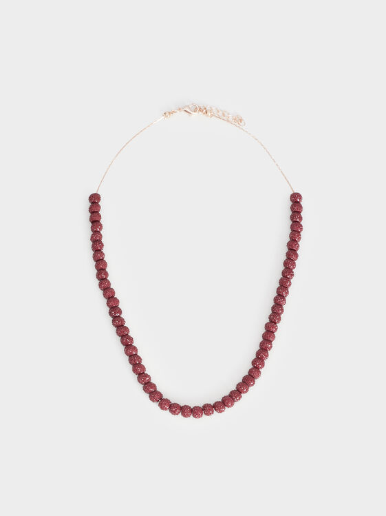 Rose Berry Short Necklace, Bordeaux, hi-res