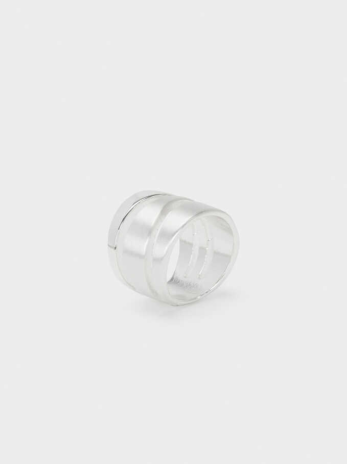 Brushed Silver Ring, Silver, hi-res