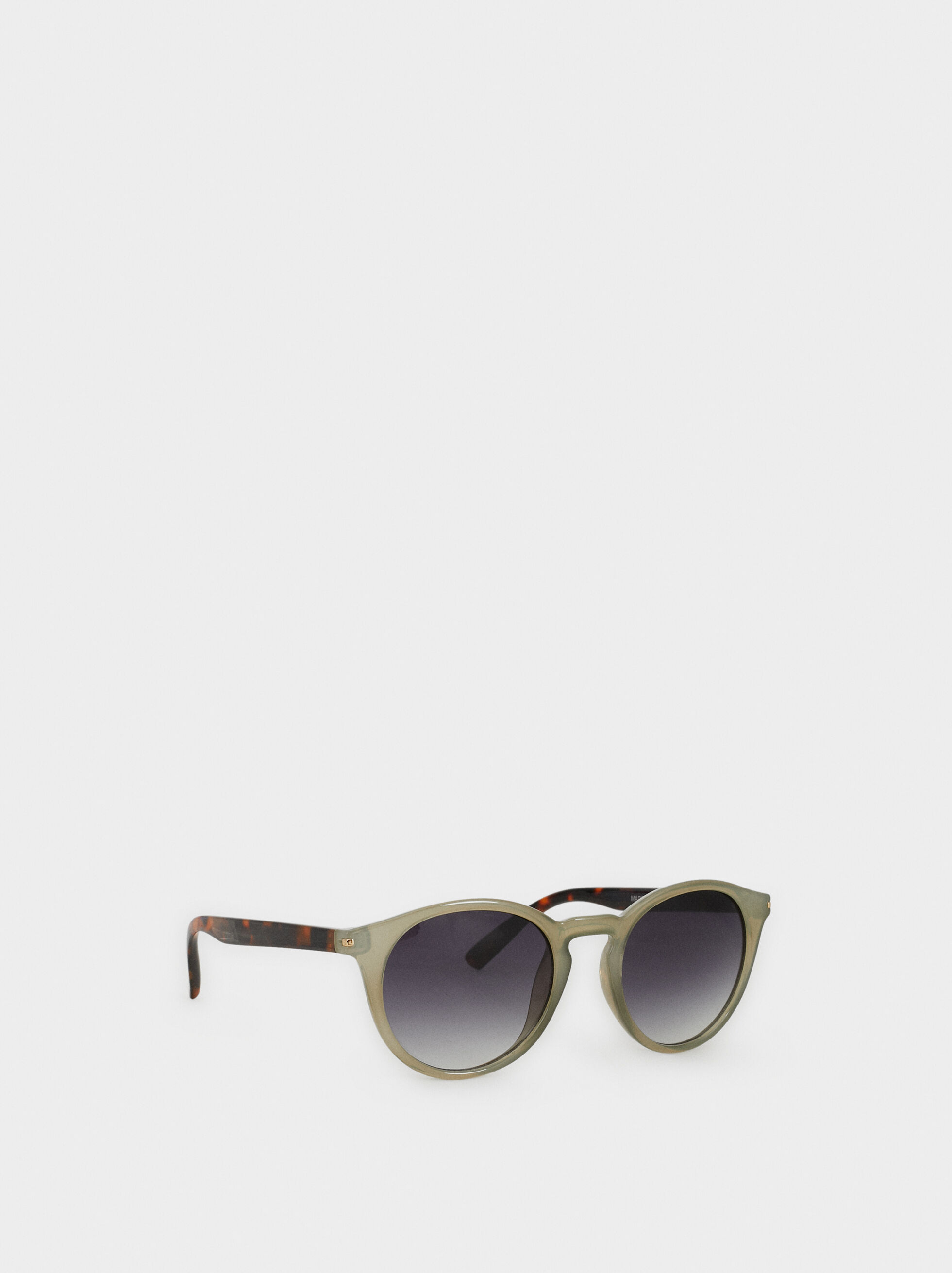 Round Sunglasses, Green, hi-res