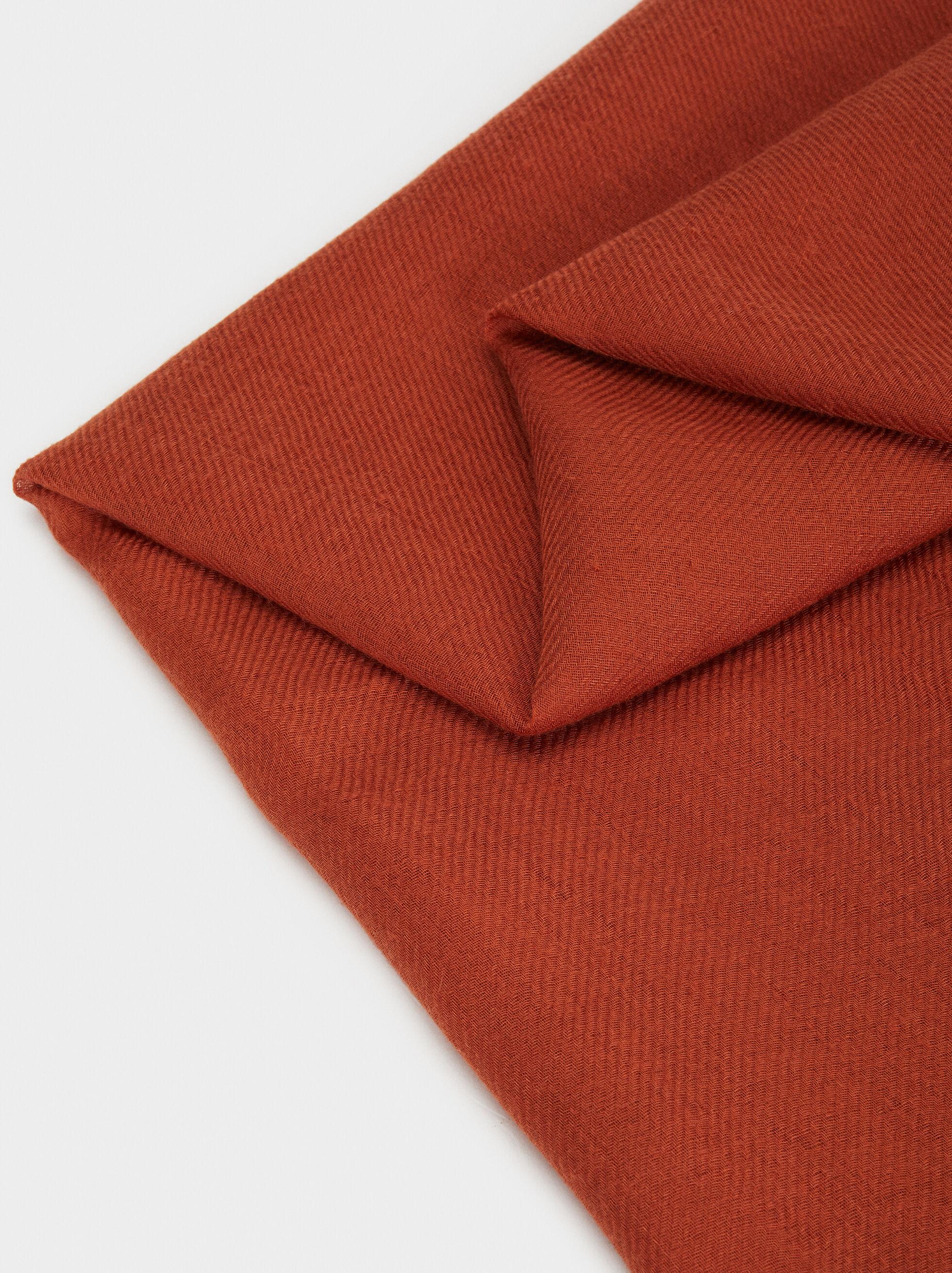 Plain Pashmina, Orange, hi-res