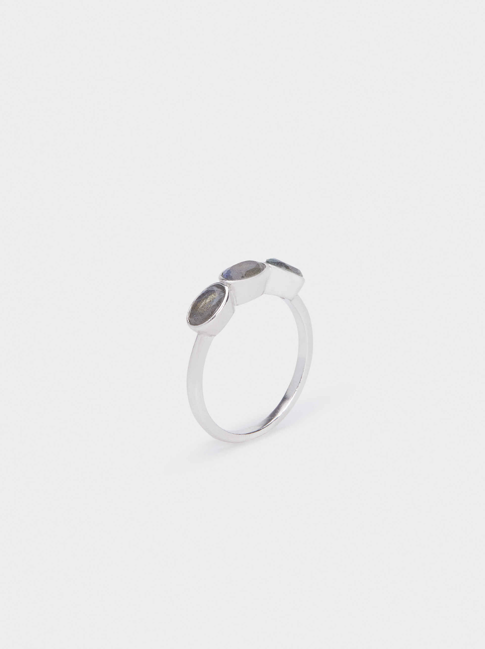 Silver 925 Ring With Stone, Grey, hi-res