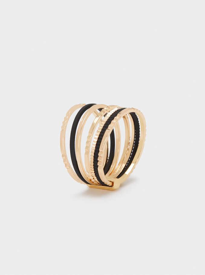 Hoop Ring, Black, hi-res