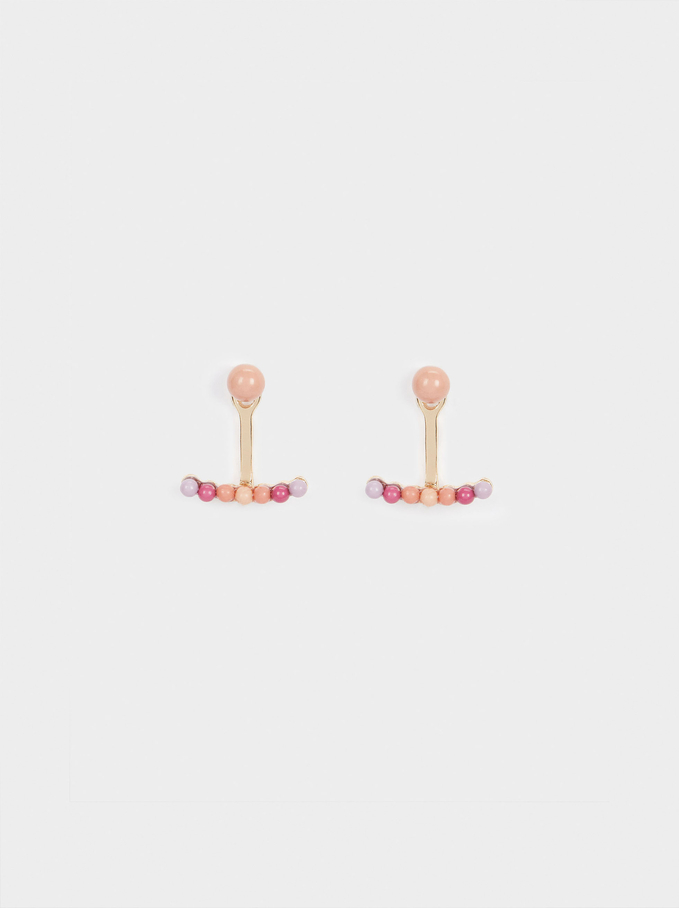 Set Of Earrings With Faux Pearls, Multicolor, hi-res
